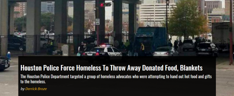 HoustonPoliceForceHomeless
